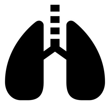 Human Lungs Vector Icon