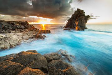 Beautiful sunrise at ocean coast
