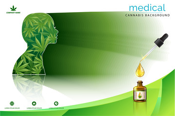 Marijuana plant and cannabis in face white backgrounds.