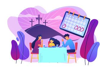 Christian event concept vector illustration.