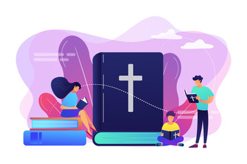 Holy bible concept vector illustration.