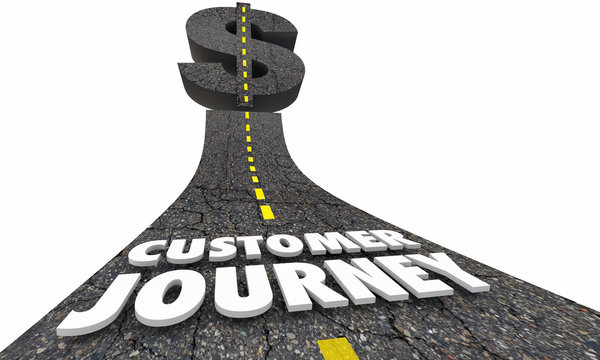 Customer Journey Experience Road Money Dollar Sign 3d Illustration