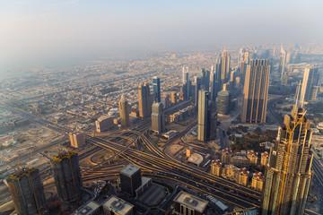 Aerial view Dubai city United Arab Emirates