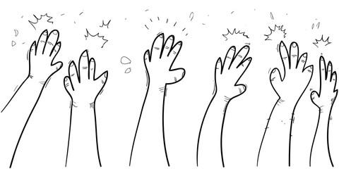 hand applause doodle sketch