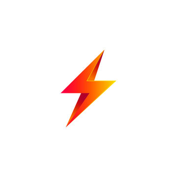 Thunder Electricity Flash Energy Power Logo Vector