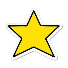 sticker of a cute cartoon gold star