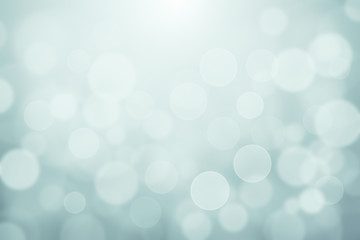 Light Green Blue blurred soft lights bokeh textured abstract background, Light winter bokeh texture for backdrop or background