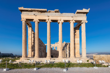 Erechtheion temple on the Acropolis, Athens, Greece