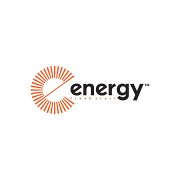initial letter e  logo design with circle sunlight vector  illustration