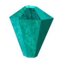 Emerald stone rough. Precious stone, gemstone, mineral.