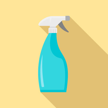 Clean spray bottle icon. Flat illustration of clean spray bottle vector icon for web design