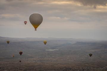Wall Mural - Hot air balloon ride in Capadocia, Turkey