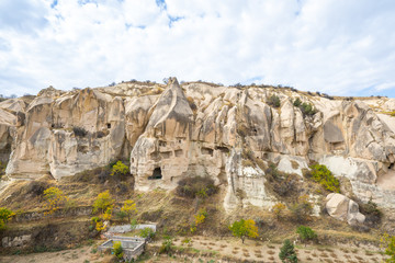 Wall Mural - Rock mountain in open air museum in Cappadocia, Turkey