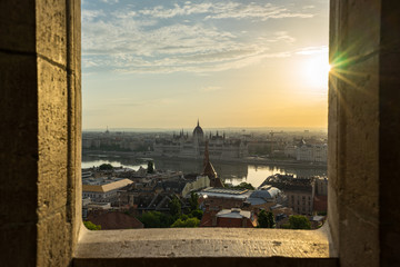 Wall Mural - Budapest Parliament Building with view of Danube River in Hungary