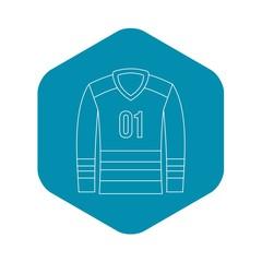 Sport uniform icon. Outline illustration of sport uniform vector icon for web