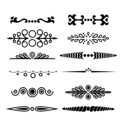 Big vector set of calligraphic and  graphic design elements (text divider, pattern, monogram, curlicues, flower) for page decoration, Greeting Cards (wedding, Valentine's day, birthday, holidays).