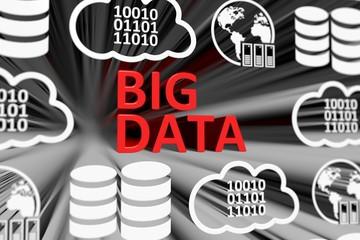 BIG DATA concept blurred background 3d render illustration