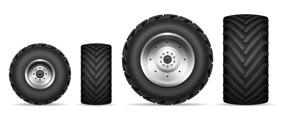 Truck and tractor wheels set