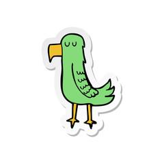 sticker of a cartoon parrot
