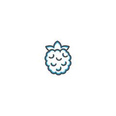Rasberry icon design. Gastronomy icon vector illustration