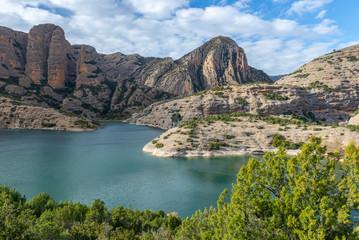 Vadiello reservoir in Guara Natural Park, Huesca province, Spain