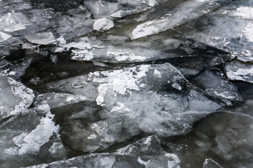 abstract floating ice