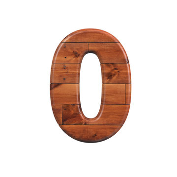 wood number 0 -  3d wooden plank digit - Suitable for nature, ecology or decoration related subjects