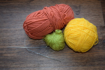 A ball of thread for knitting
