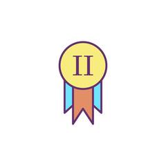 Award flat vector icon sign symbol