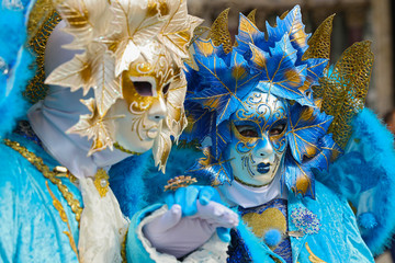 carnival venice, beautiful mask and disguise from venice in italy