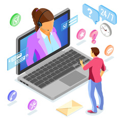 Isometric Online Customer Support