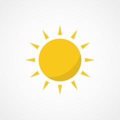 Sun icon. Trendy vector summer symbol for website design, web button, mobile app.