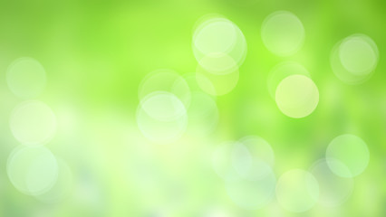 Wall Mural - abstract green background with bokeh