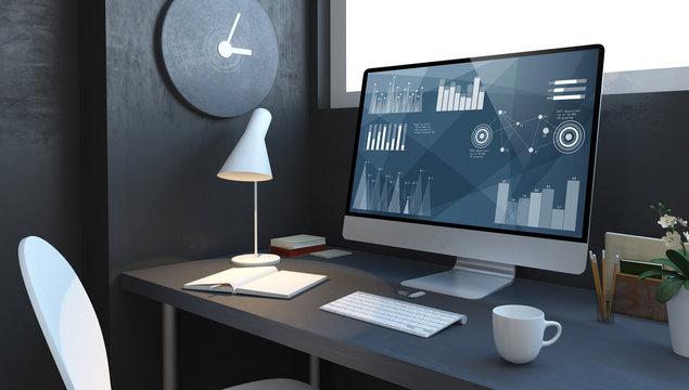 accountant desktop mockup