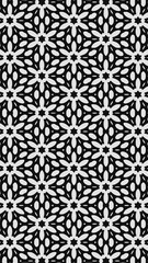 Ornate geometric pattern and two-tone abstract background