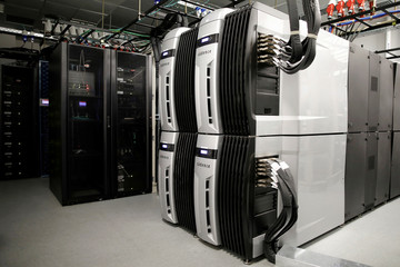 A server room is seen at Mellanox Technologies building in Yokneam