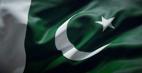 Official flag of Pakistan.
