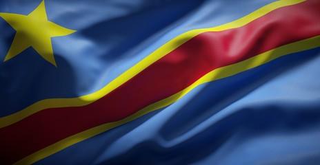 Flag of the Democratic Republic of the Congo.