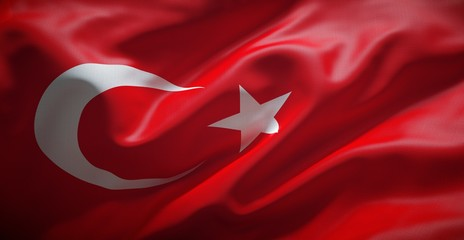 Turkish flag. Turkey.