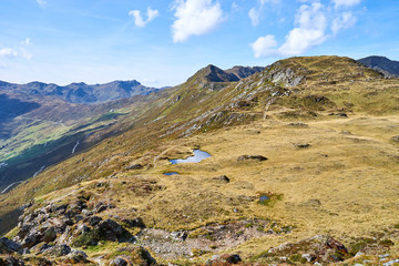 "Hiking on Mountain ""Schwendberg"" in austrias alps / Nice paths, peaks and lakes in Zillertal"