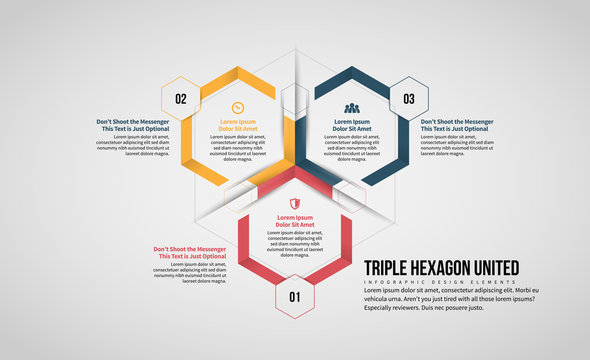 Triple Hexagon United Infographic