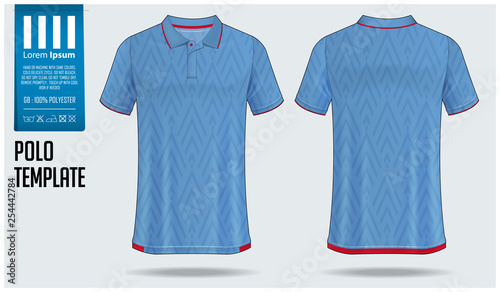 Polo T Shirt Template Design For Soccer Jersey Football Kit Or