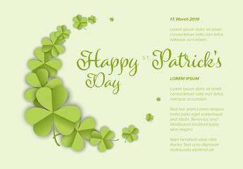 St. Patrick's Day Card Layout