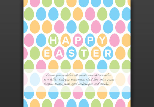 Square Easter Card Layout