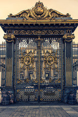 Fototapete - Gate of the Palais de Justice in Paris which is the house of the French Supreme Court
