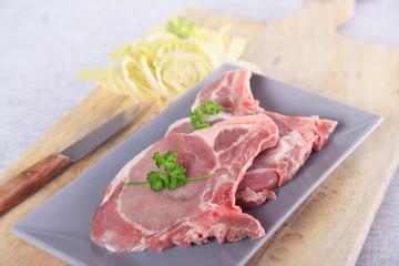 raw pork chop