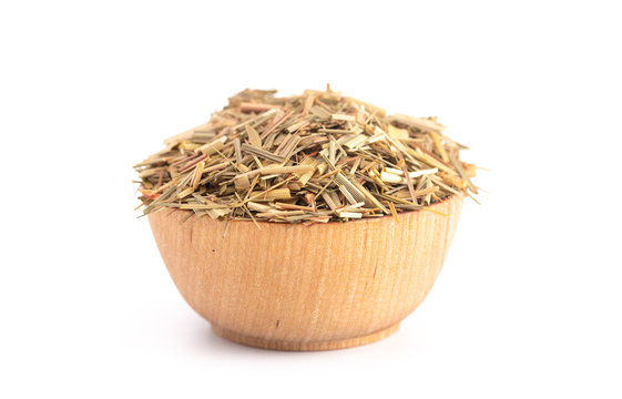 Bowl of Dried Lemongrass Good for Cooking as well as Herbal Medicine