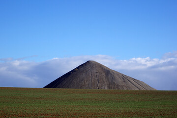 Overburden mountain in Sangerhausen