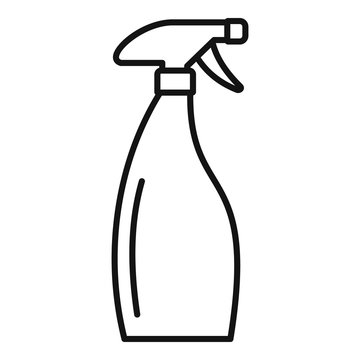 Clean spray bottle icon. Outline clean spray bottle vector icon for web design isolated on white background