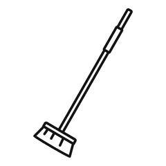 Cleaning mop icon. Outline cleaning mop vector icon for web design isolated on white background